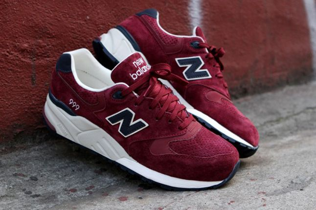 New Balance 999 Burgundy Pair 1