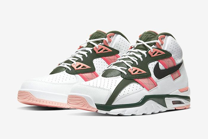 Nike Air Trainer Sc High Pink Green Cu6672 100 Front Angle