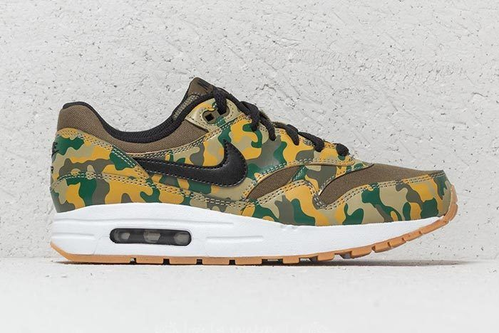 Nike Air Max 1 Print Gs Medium Olive Black 2