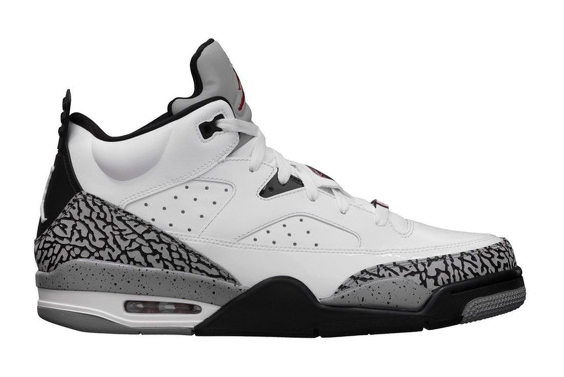 Air Jordan Son Of Mars Low White Cement Lateral Side Shot
