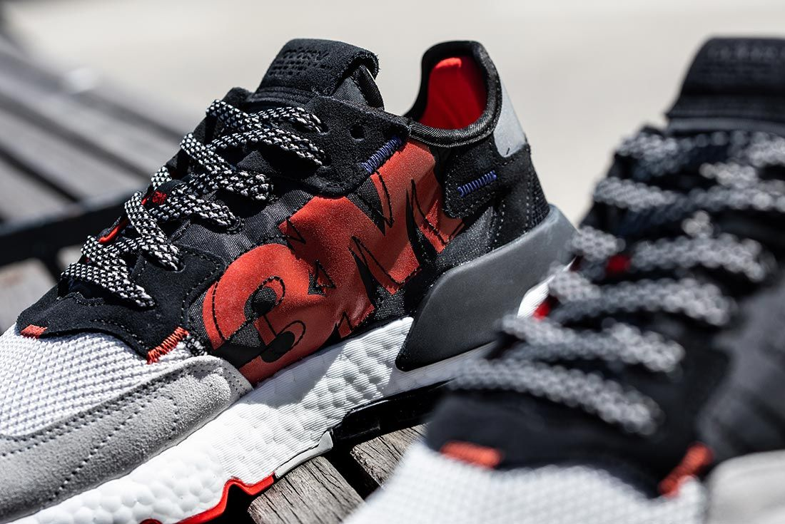 Nite Jogger Off Foot Black Red Detail