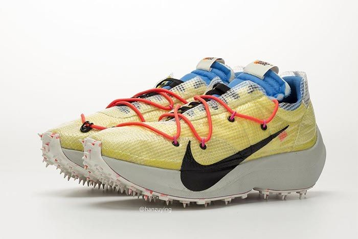 Off White Nike Vaporstreet Yellow Lateral Side Shot