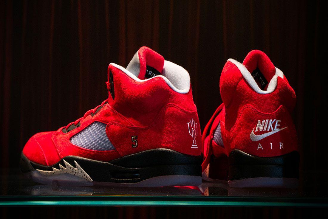 Trophy Room Air Jordan 5 University Red Heel