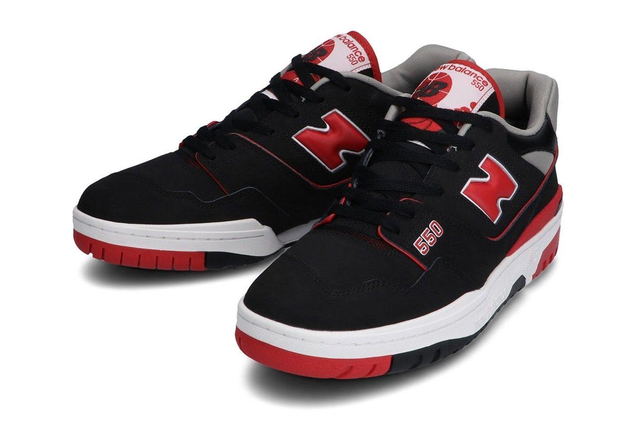 New Balance 550 Black Red