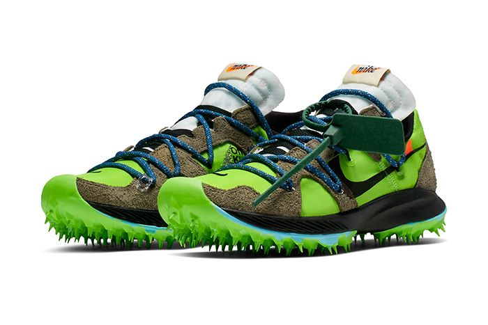 Off White Nike Zoom Terra Kiger 5 Green Release Date Pair