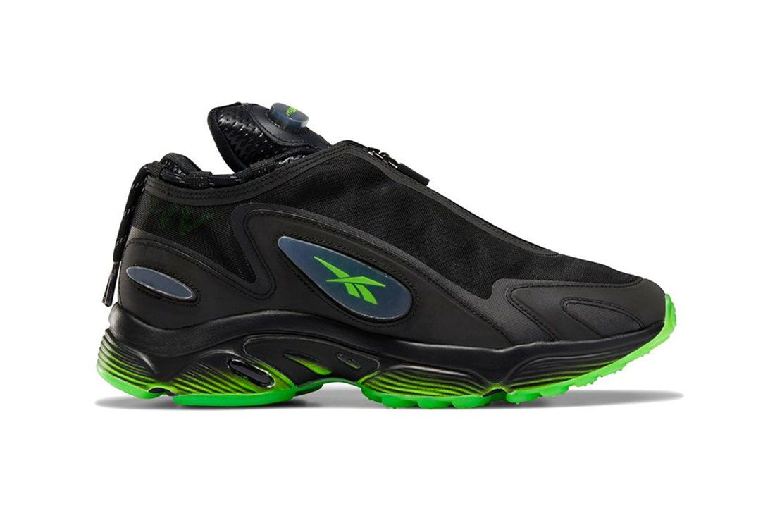 Misbhv Reebok Daytona Dmx Black Green Lateral Side Shot