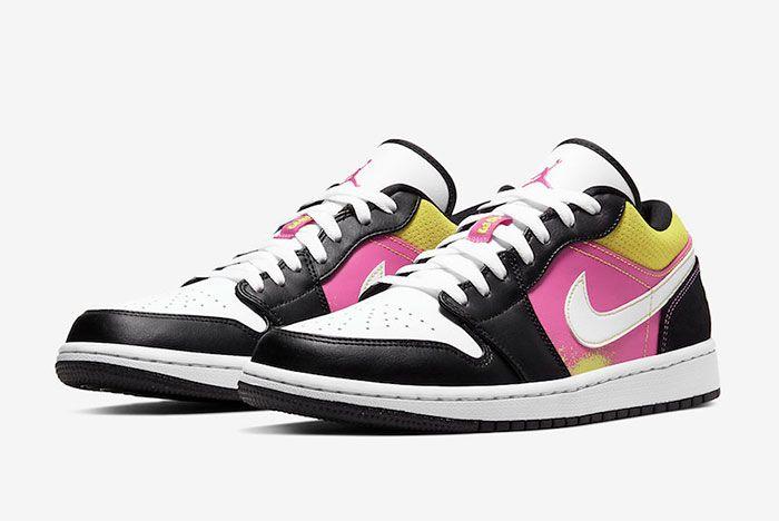 Air Jordan 1 Low Paint Splatter Toe