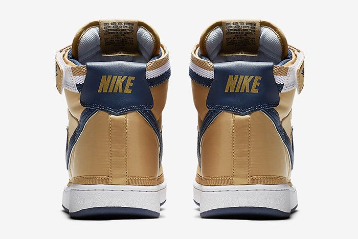 Nike Vandal High Supreme Metallic Gold Navy 4