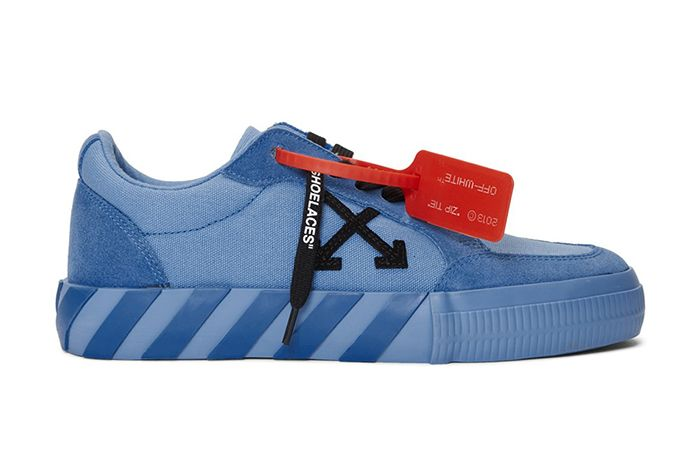 Off White Low Vulcanised Sneaker Blue