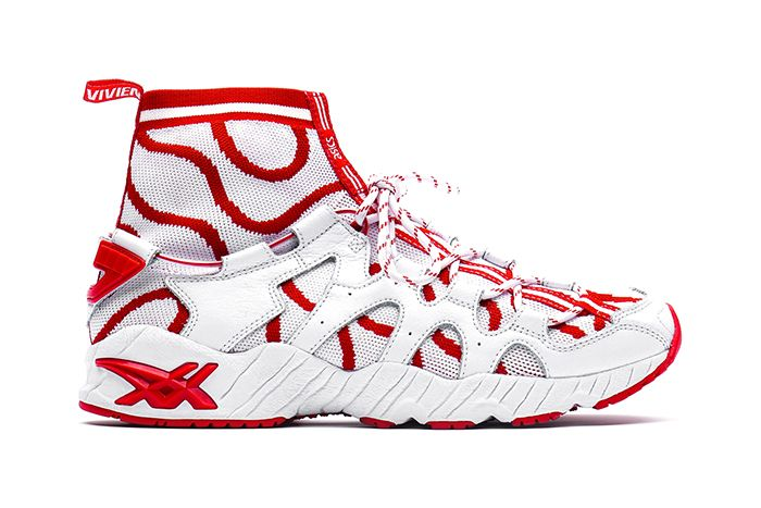 Vivienne Westwood Asics Gel Mai Knit Mt White Red Release Date Lateral