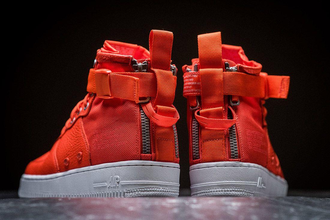Nike Sf Air Force 1 Orange 3