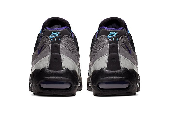 Nike Air Max 95 Black Grape Black Court Purple Teal Nebula Ao2450 002 Release Date Heel