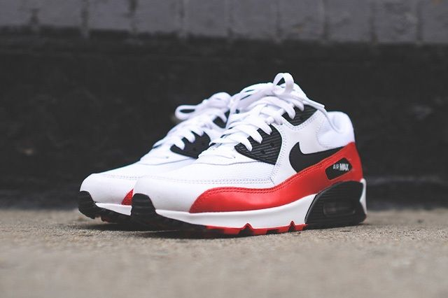 Nike Air Max 90 White Red Black 3
