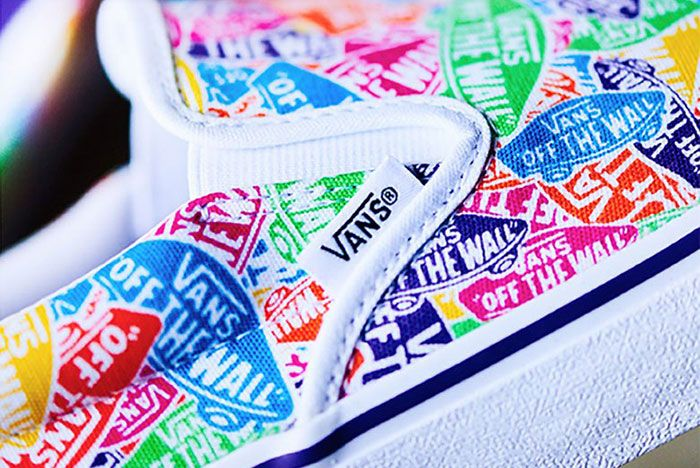 Vans Slip On Multi Color Logo 2 Side
