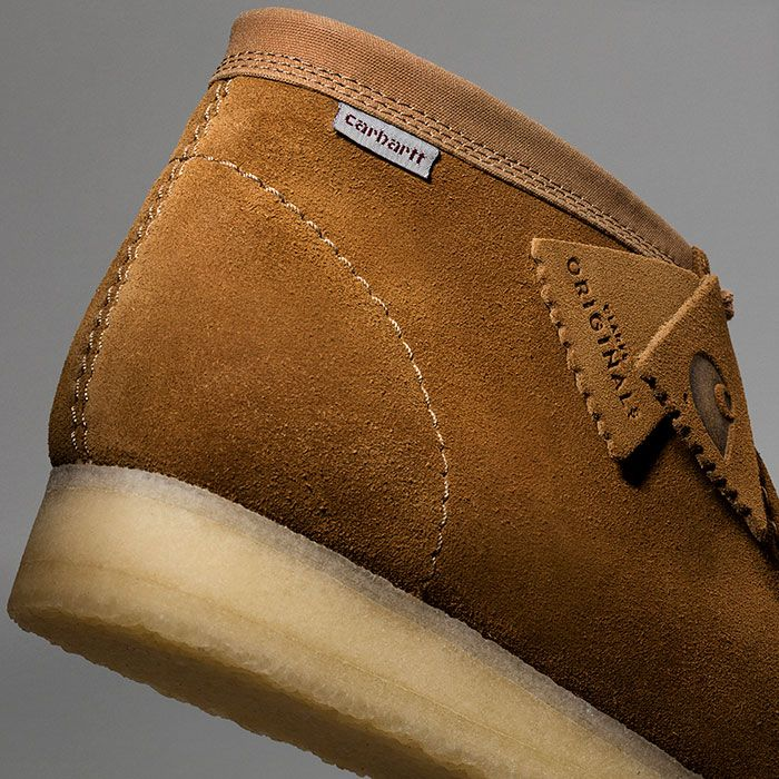 Clarks Wallabee Carhartt Rear Angle