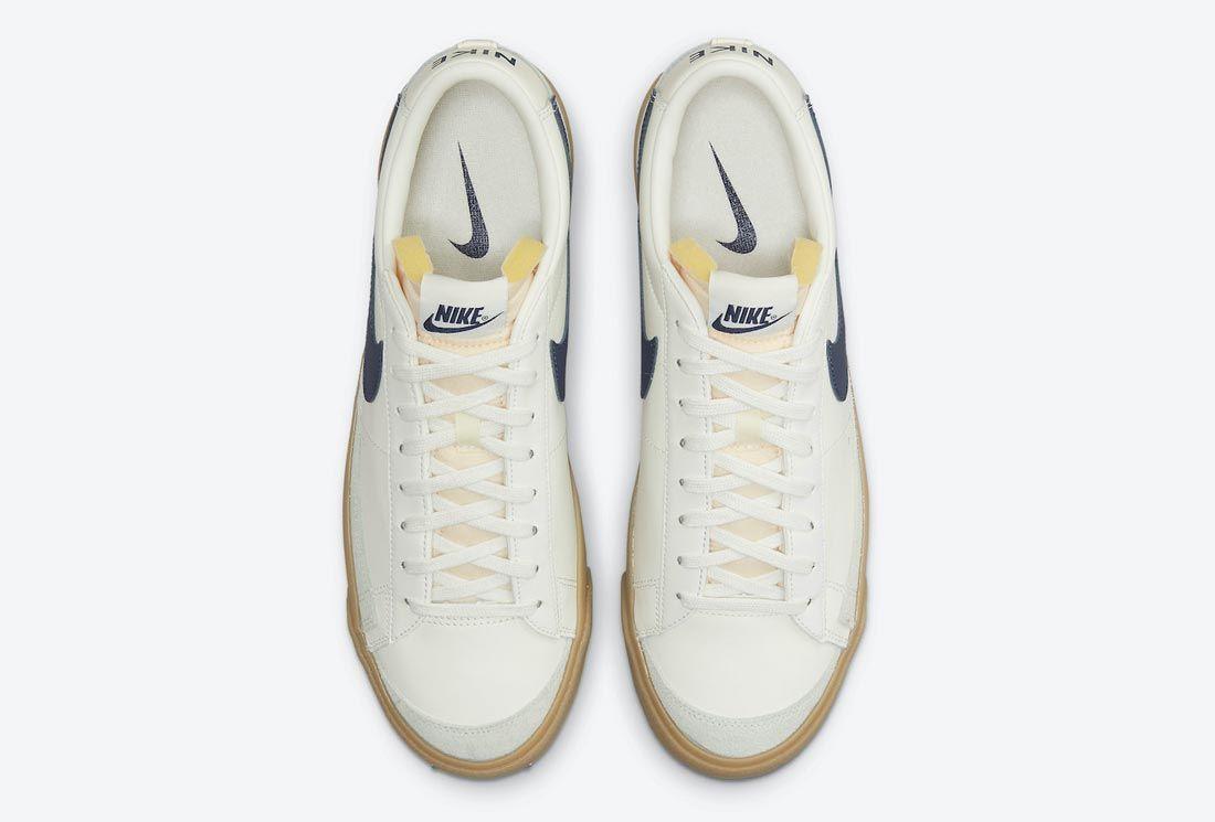 Nike Blazer Low White/Navy/Gum