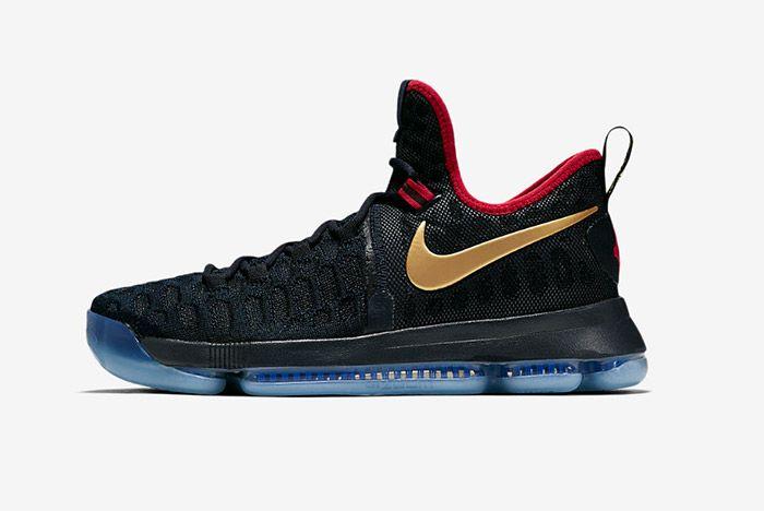 Nike Zoom Kd 9 Dark Obsidian Gold Olympic 4