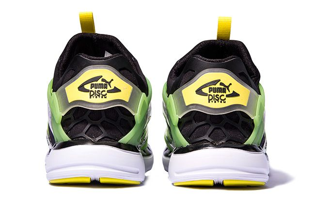 Puma Disc Blaze Ltwt Web Green Heels 1