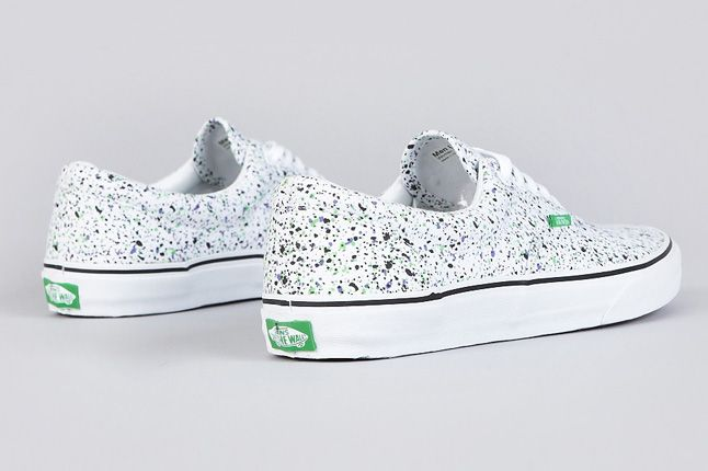 Vans Era Overspray True White Heels 1