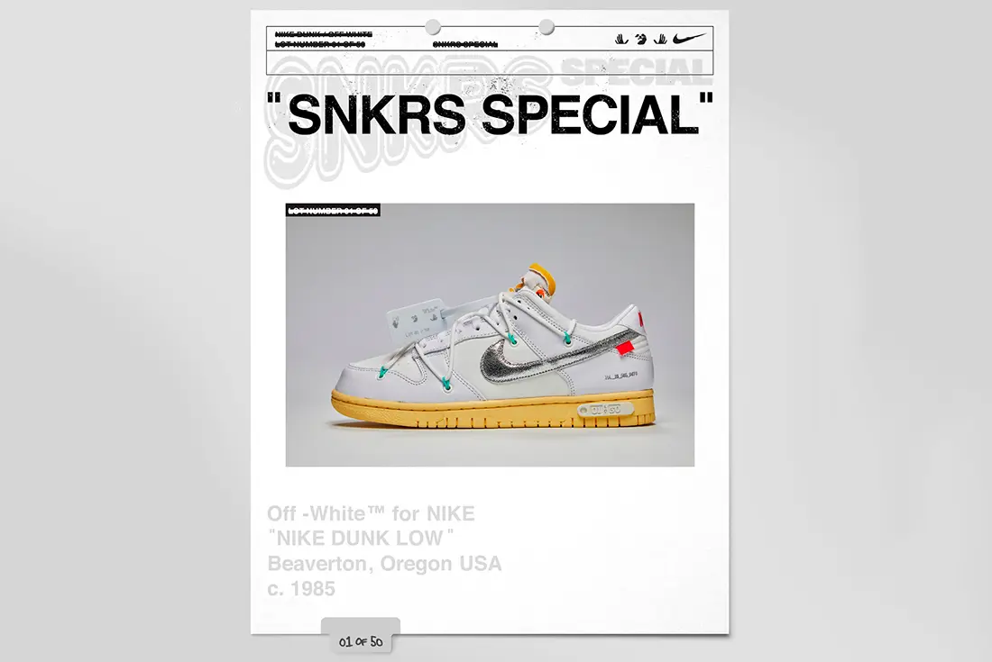 off-white nike dunk low the 50