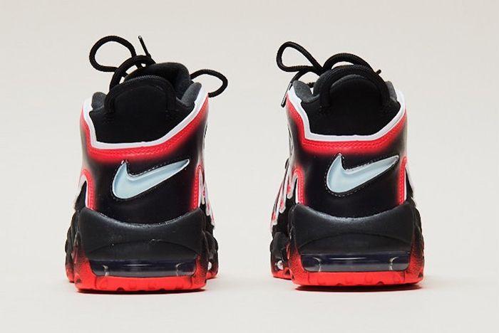 Nike Air More Uptempo Laser Crimson Heel
