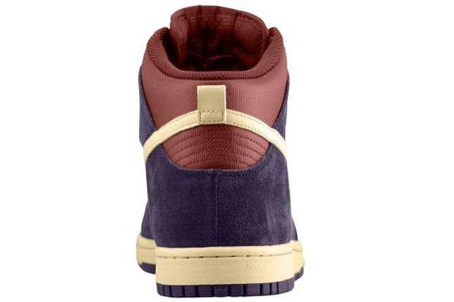Nike Dunk Hi Port Wine Heel 1