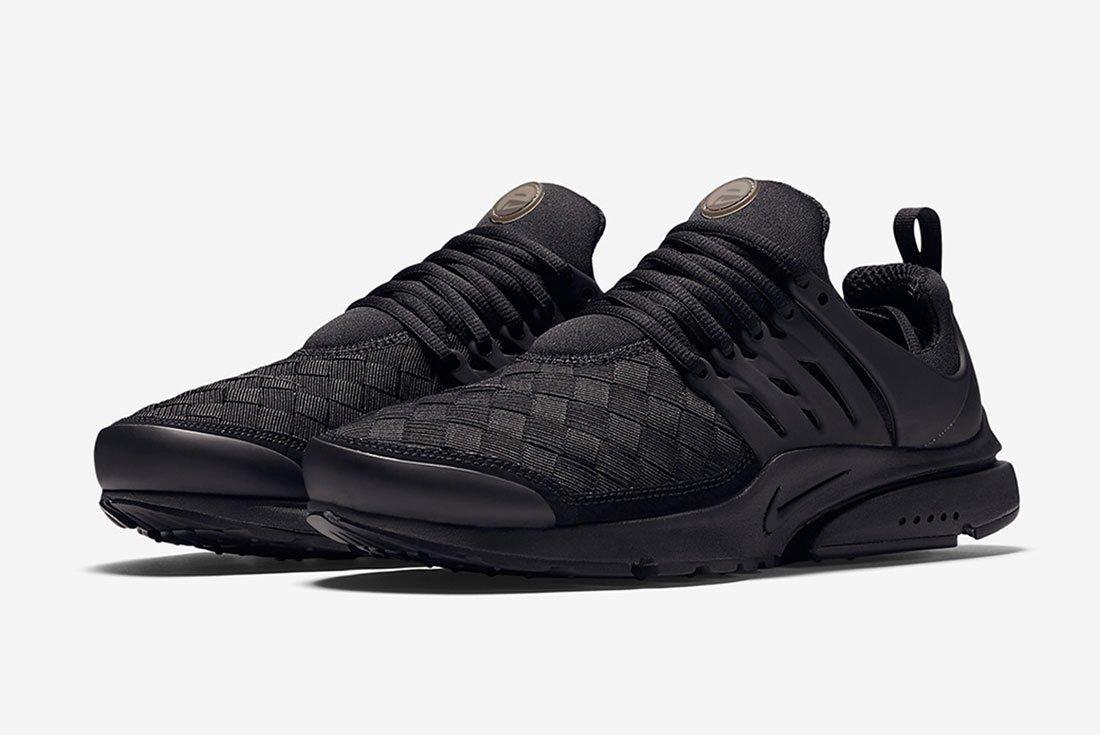 Nike Air Presto Woven Triple Black Feature