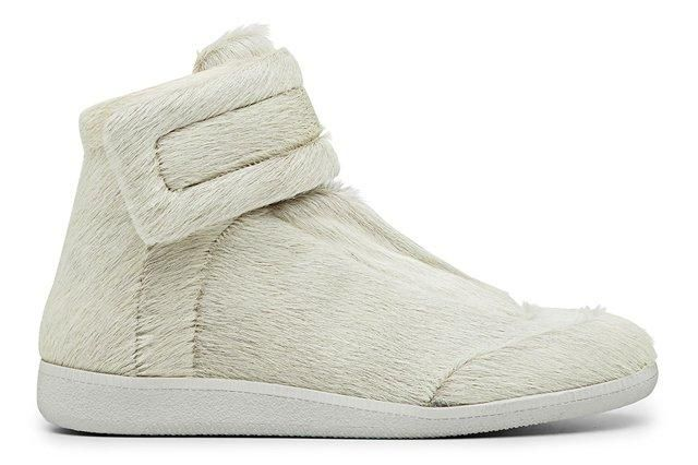 Maison Martin Margiela Pony Skin Exclusive White High Top Sneaker Profile