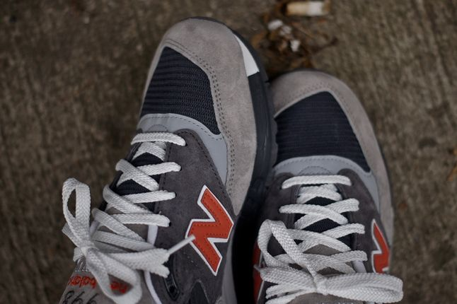 New Balance 998 Grey Orange Toe Detail 1