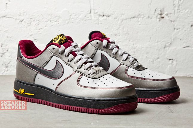 Nike Air Force 1 Dusty Grey Metallic Pewter Cherry 2