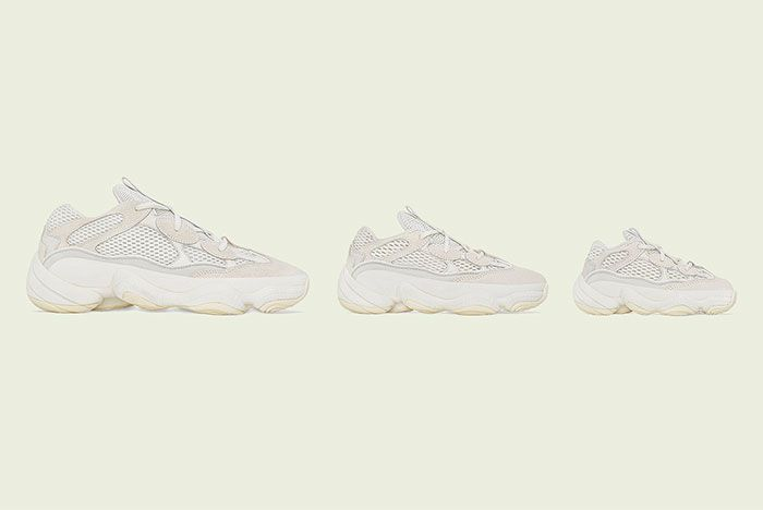 Yeezy 500 Bone White Release Date Family Sizes