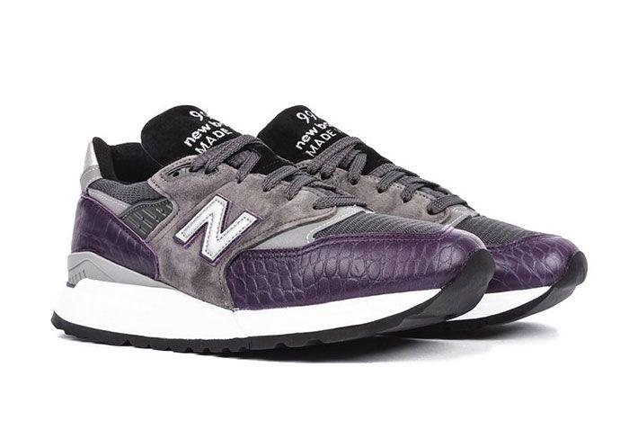 New Balance M998 Purple Faux Croc Colorway Release4 Pair