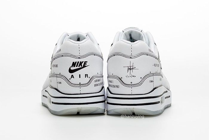 Nike Air Max 1 Schematic Not For Resale Heel
