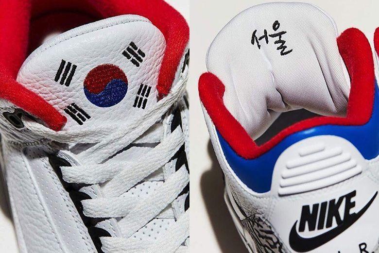 Air Jordan 3 seoul tongues