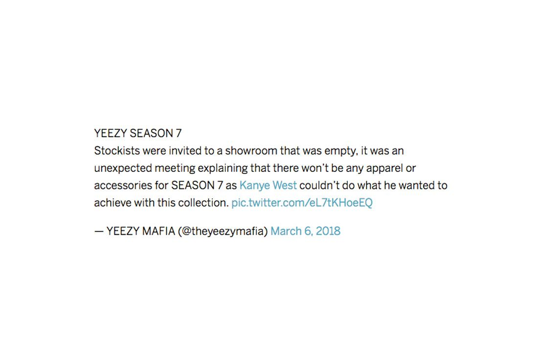 Yeezy Mafia Interview Season 7 Tweet