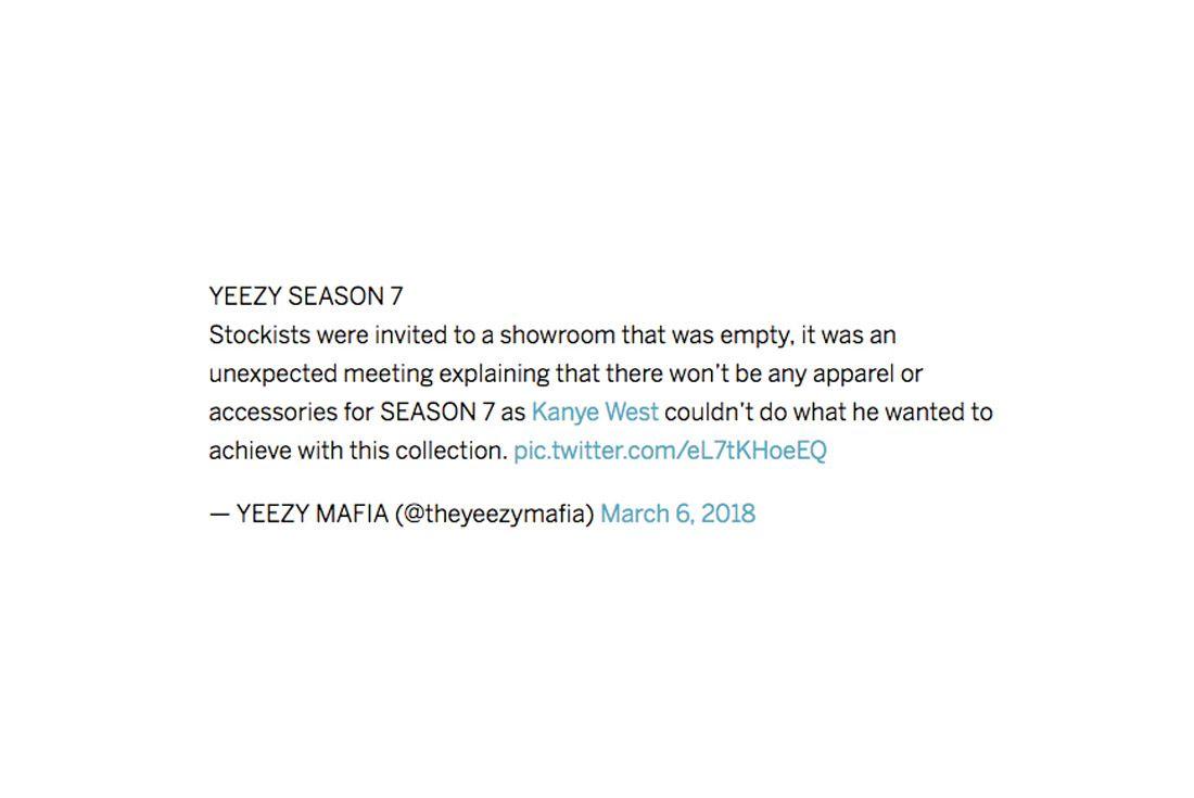 Yeezy Mafia Interview Season 7 Tweet