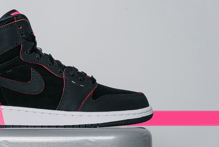 Air Jordan 1 High Gg Black Hyper Pink3