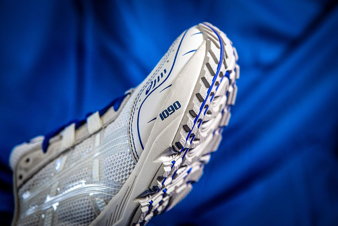 Above The Clouds Asics Gel 1090 Blue Cloth Forefoot