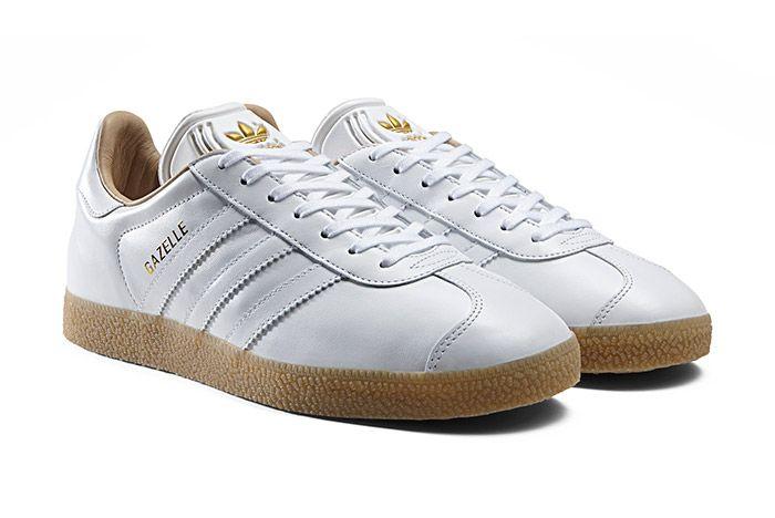 Adidas Gazelle Leather White Gum 1