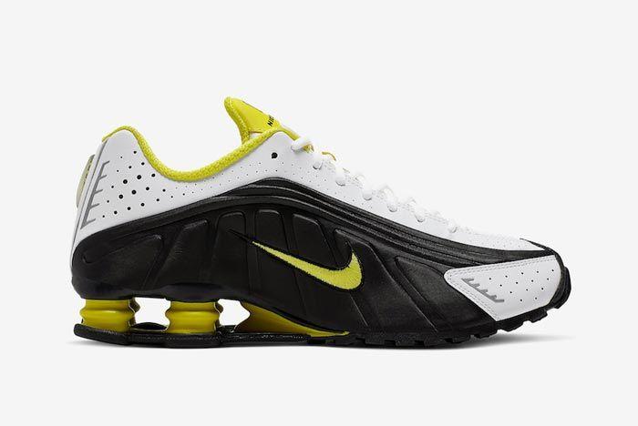 Nike Shox R4 Dynamic Yellow Medial
