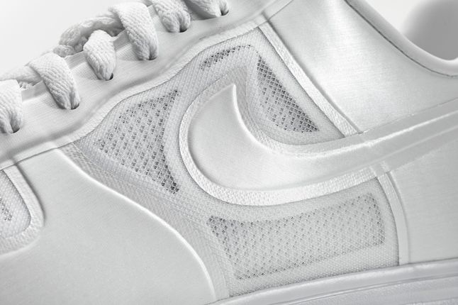 Nike Lunar Force One White Ice Midfoot Detail 1