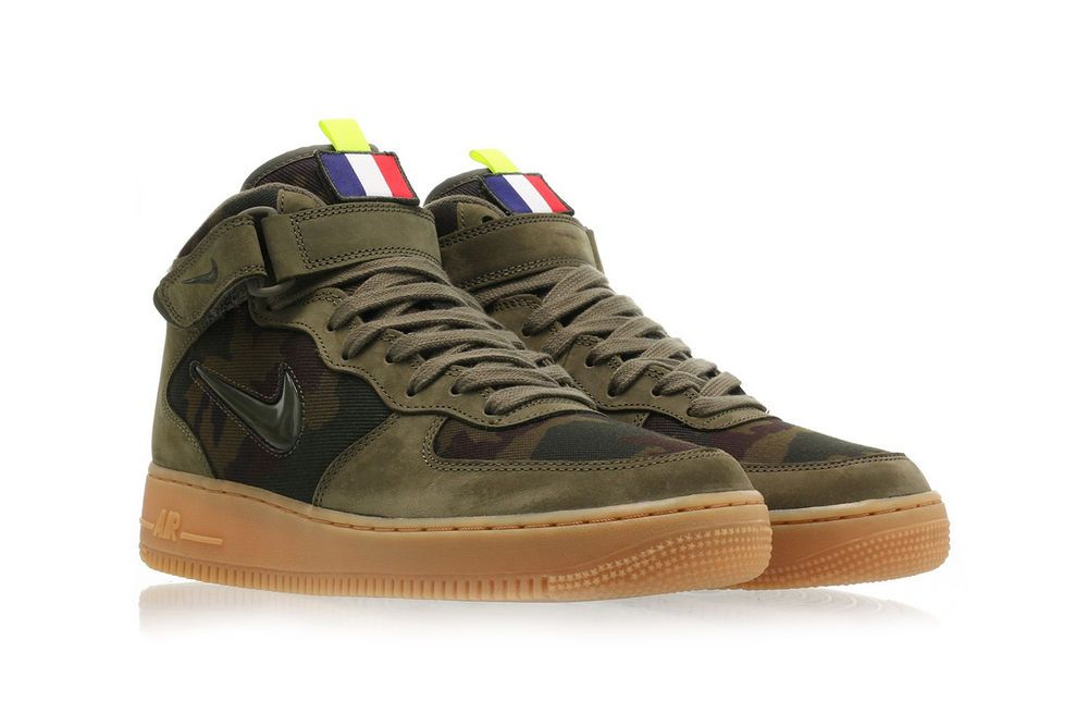 Nike Air Force 1 French Camo Angled