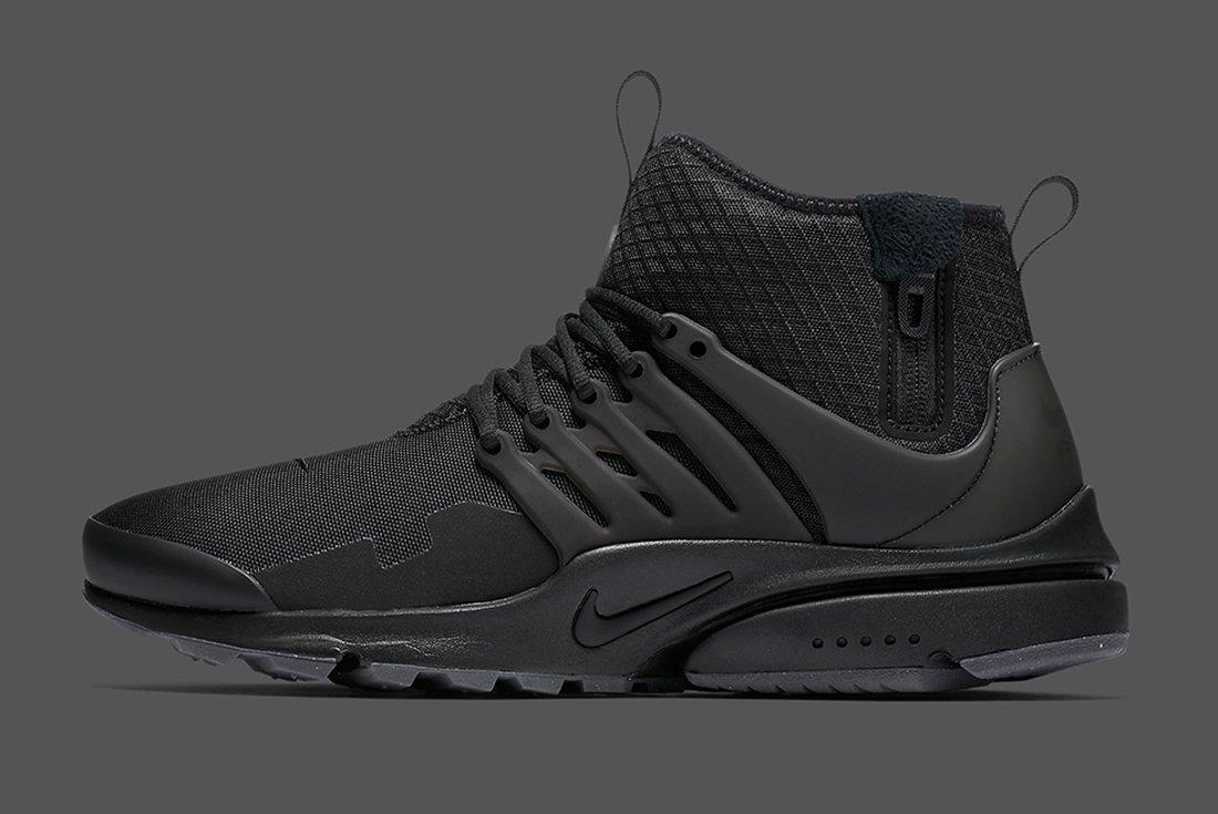 Nike Air Presto Mid Utility Triple Black 3