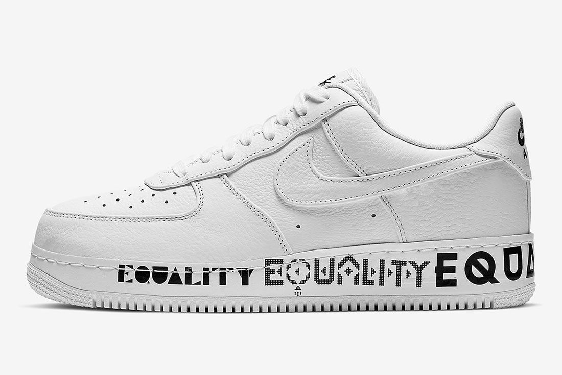 Nike Air Force 1 Equality Aq2118 100 Lateral Side Shot
