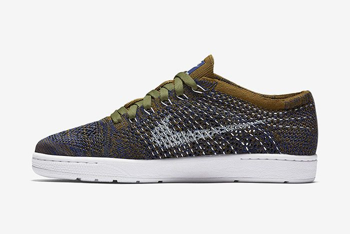 Nike Wmns Tennis Classic Ultra Flyknit Olive Green Blue 3