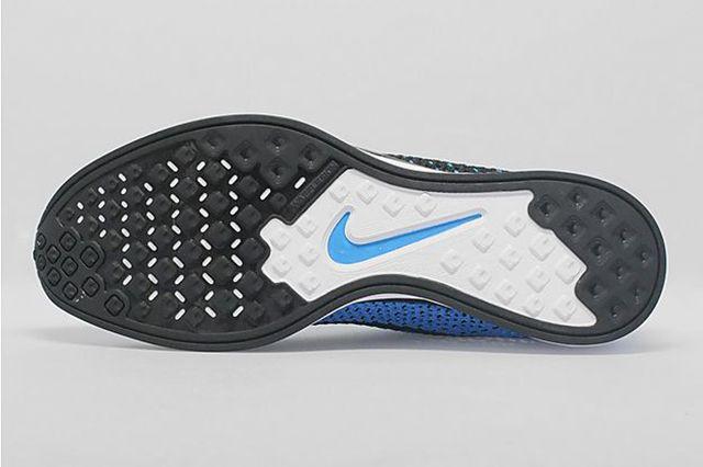 Nike Flyknit Racer Black Photo Blue 1
