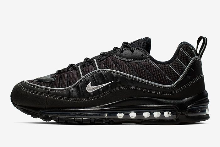 Nike Air Max 98 Triple Black 640744 013 Lateral