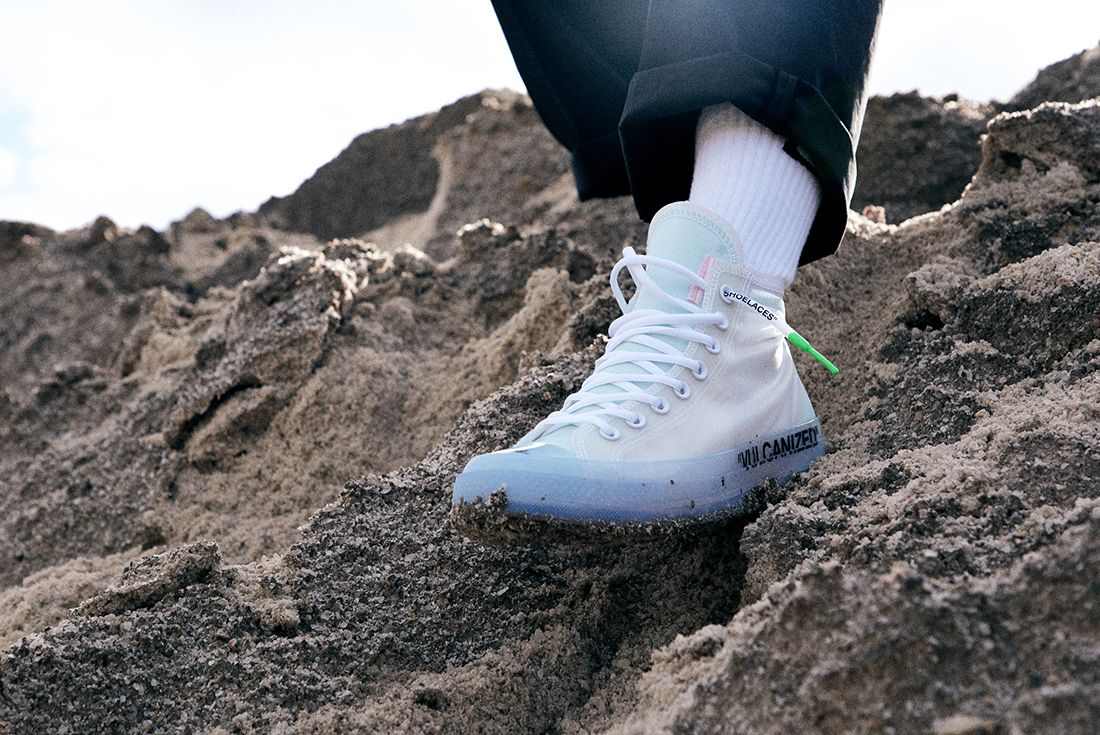 Off White X Converse Chuck 70 On Foot 5