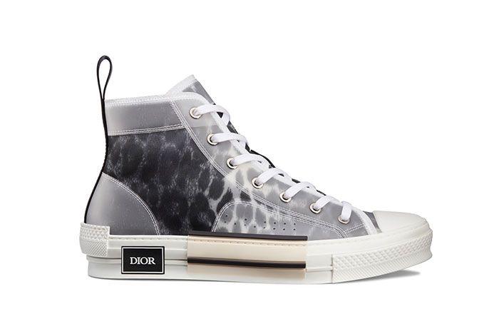 Dior B23 High Top Leopard Print Sneaker 1 Side1