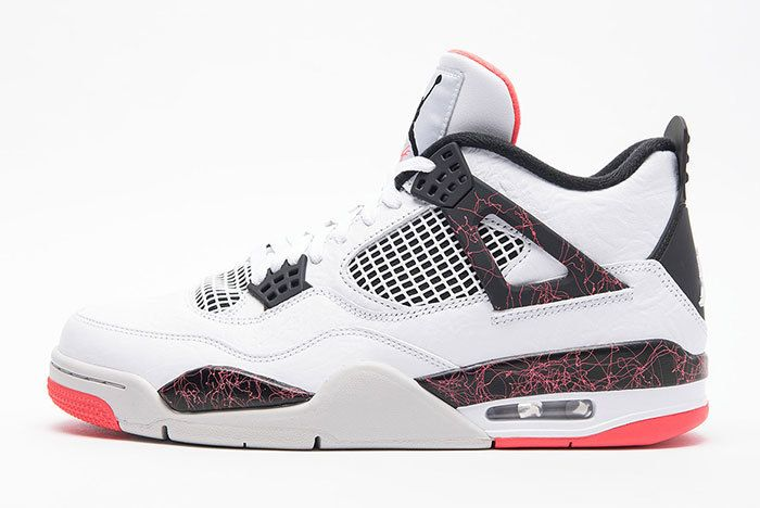 Air Jordan 4 Retro White Black Bright Crimson Pale Citron 1